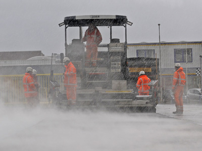 Reconstructie terreinverharding Koolwijk Transport te Bergambacht