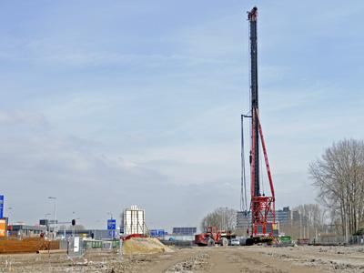 Nieuwbouw Gamma en P&R Feyenoord te Rotterdam